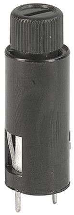 Schurter 6.3A Slotted Cap PCB Mount Fuse Holder for 5 x 20mm Cartridge Fuse, 250V ac (100)