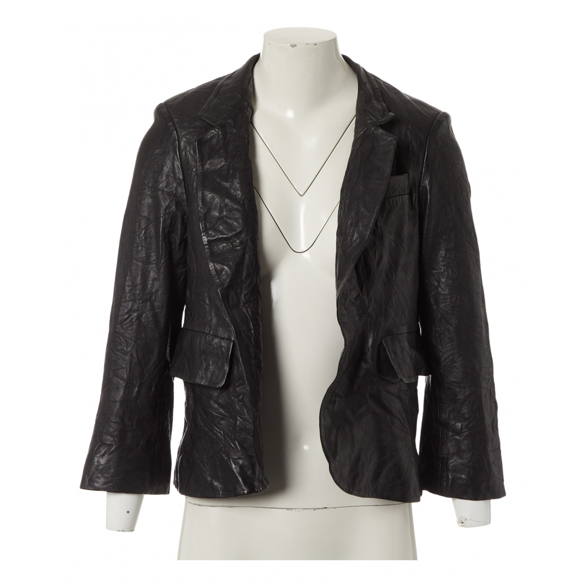 Zadig & Voltaire N Black Leather Leather jacket for Women 38 FR