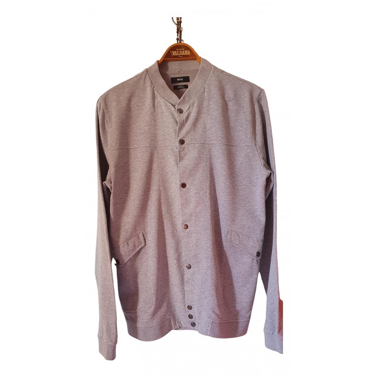 Boss \N Pullover.Westen.Sweatshirts  in  Grau Baumwolle