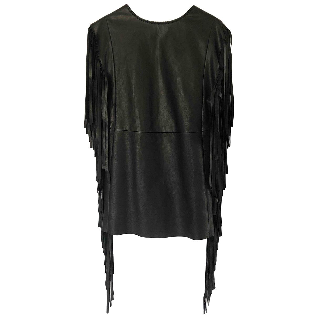 Saint Laurent \N Black Leather dress for Women 36 FR