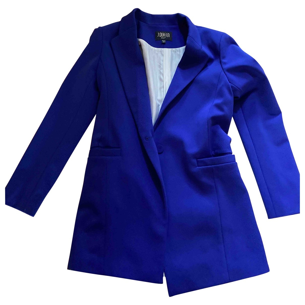 Non Signe / Unsigned Oversize Jacke in  Blau Polyester
