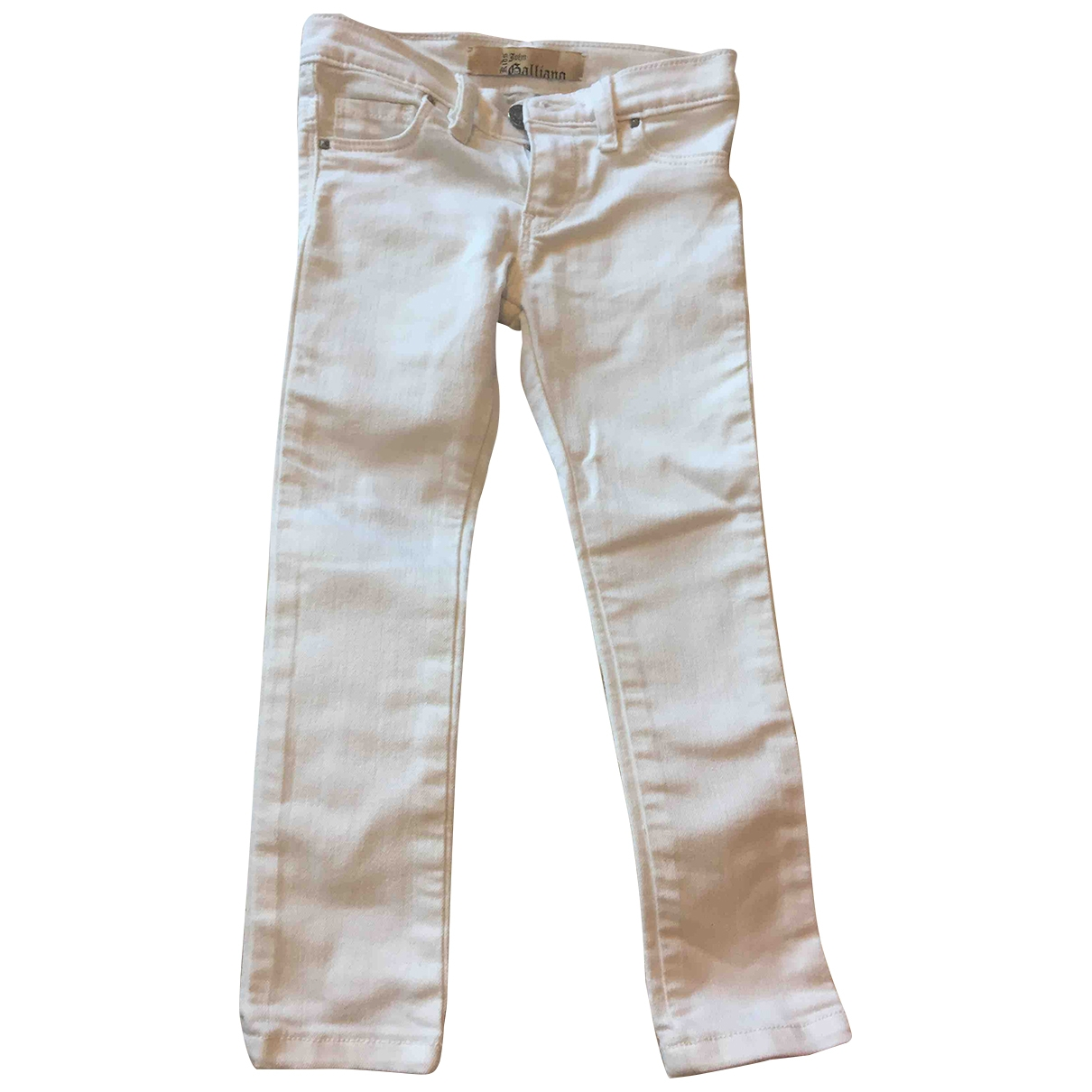 John Galliano \N White Cotton Trousers for Kids 4 years - up to 102cm FR