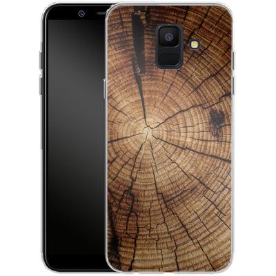 Samsung Galaxy A6 Silikon Handyhuelle - Tree Rings von caseable Designs