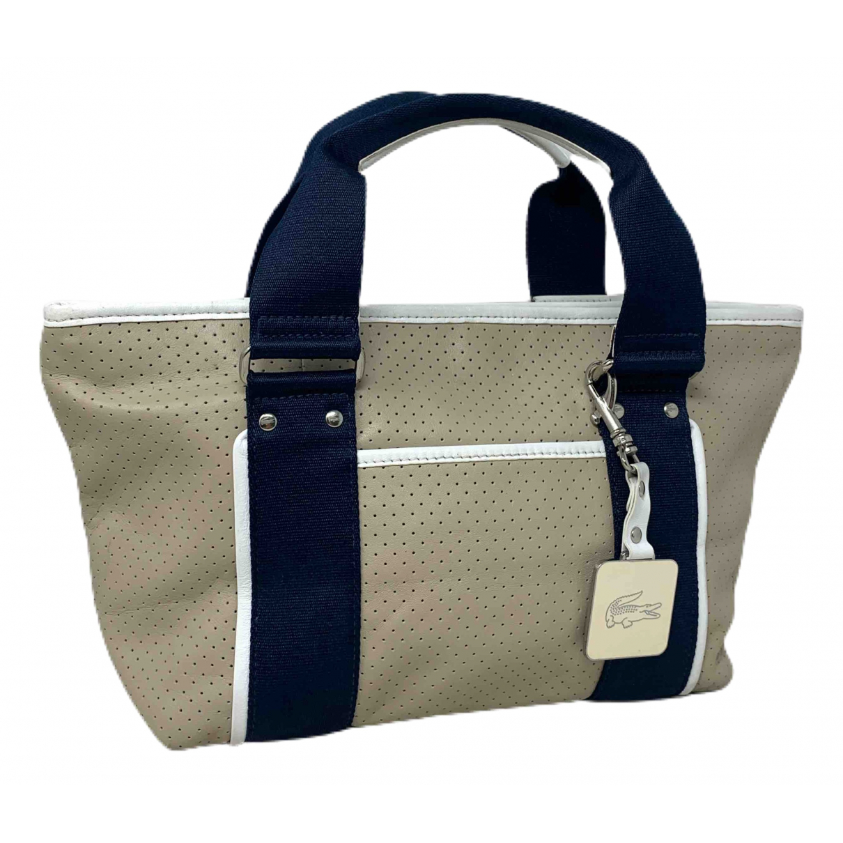Lacoste \N Handtasche in  Beige Leder