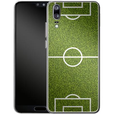 Huawei P20 Silikon Handyhuelle - Soccer Field von caseable Designs