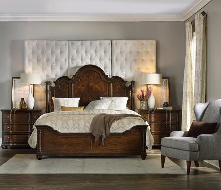 5381-90650BEDROOMSET 3-Piece Leesburg Collection Bedroom Set with Queen Size Panel Bed + 2X Chest  in