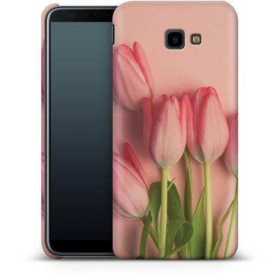 Samsung Galaxy J4 Plus Smartphone Huelle - Pink Tulips von Joy StClaire