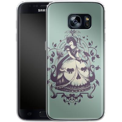 Samsung Galaxy S7 Silikon Handyhuelle - Mrs Death von Enkel Dika