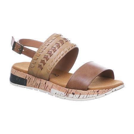 Bearpaw Womens Stormi Flat Sandals, 8 Medium, Red