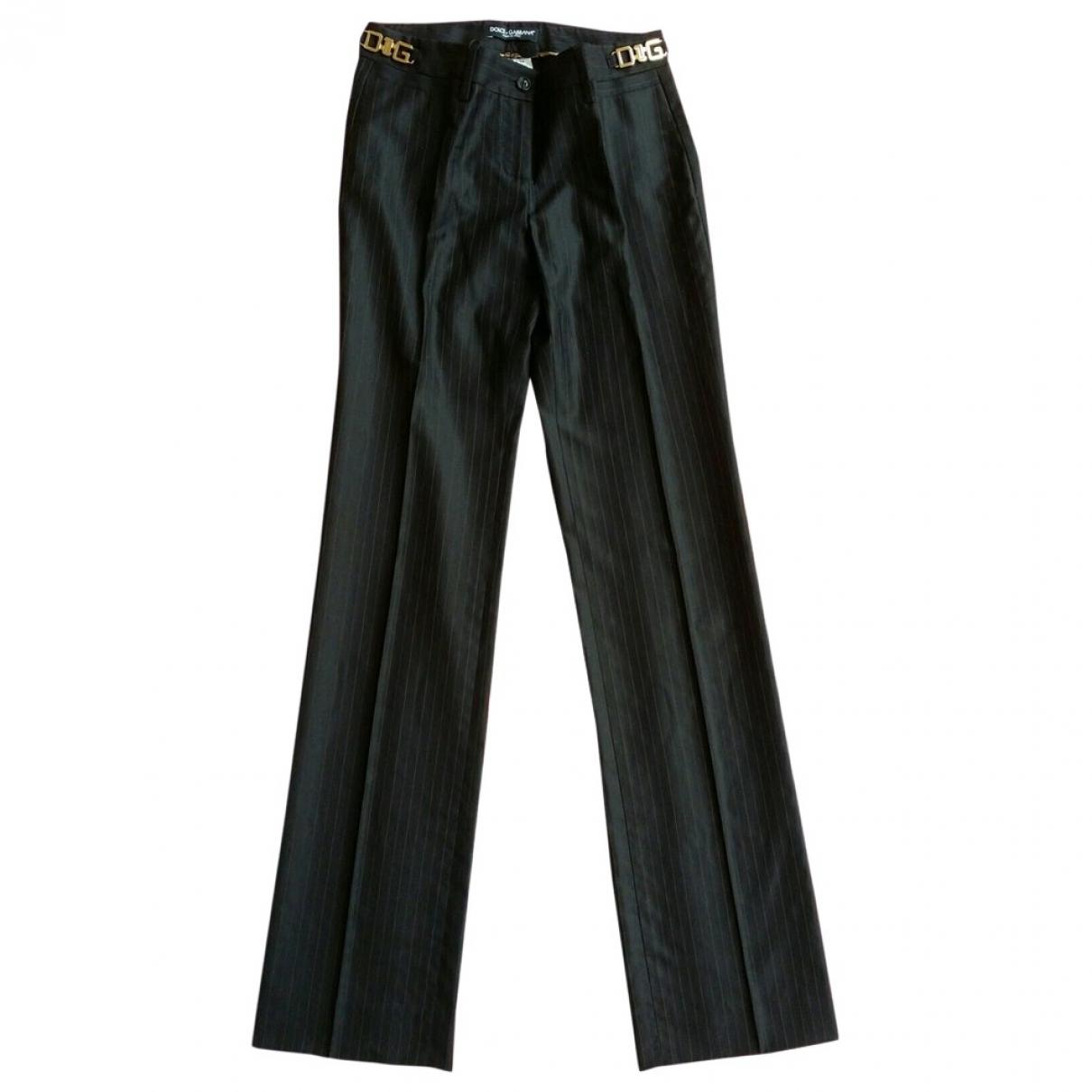 Pantalon recto de Lana Dolce & Gabbana