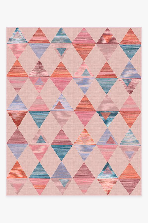 Washable Rug Cover | Ziggy Pink Rug | Stain-Resistant | Ruggable | 8'x10'