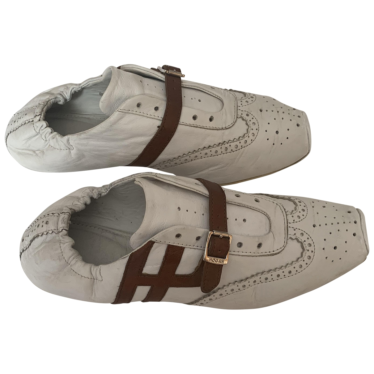 Hogan \N White Leather Lace ups for Women 37 EU