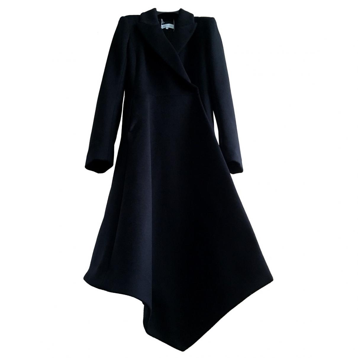 Patrizia Pepe \N Black Wool coat for Women 46 IT