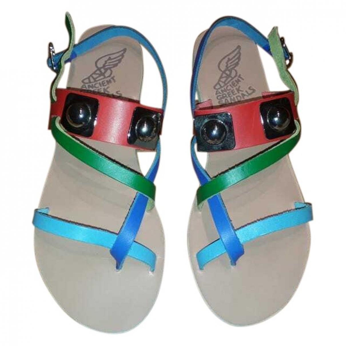 Ancient Greek Sandals - Sandales   pour femme en cuir - multicolore