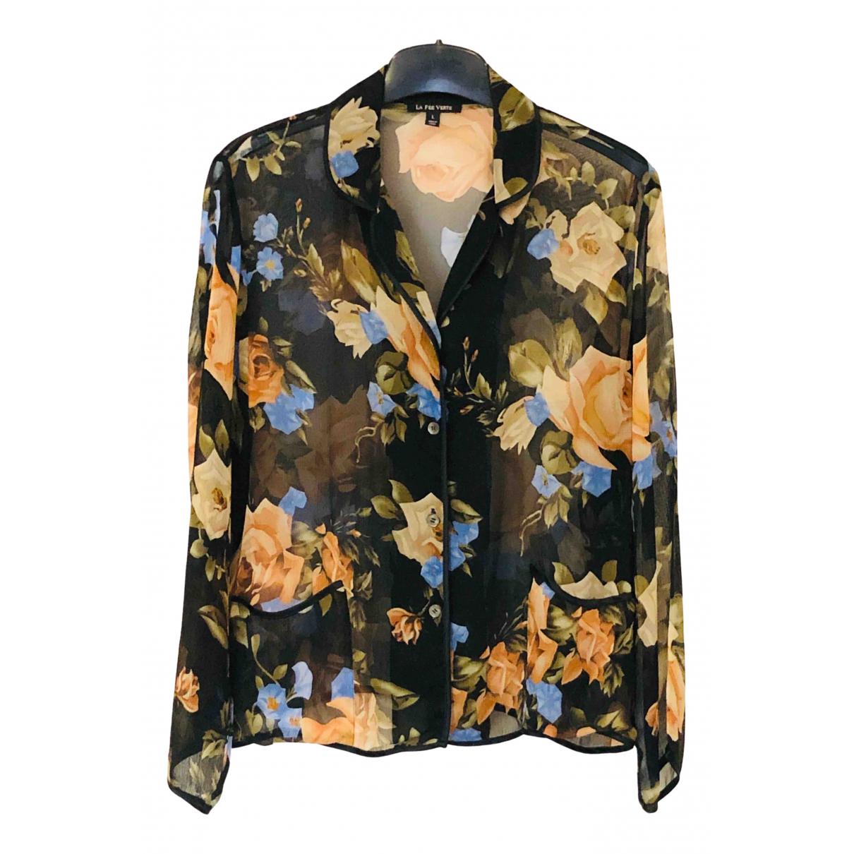 La Fee Verte - Top   pour femme en soie - multicolore
