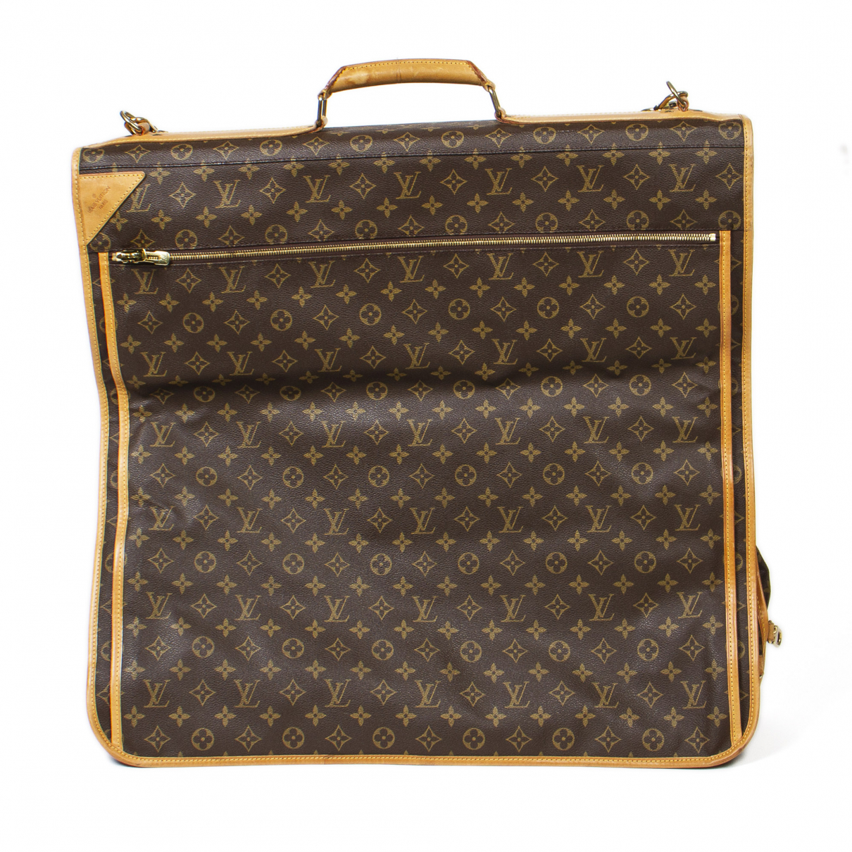 Louis Vuitton - Sac de voyage Garment pour femme en coton - marron