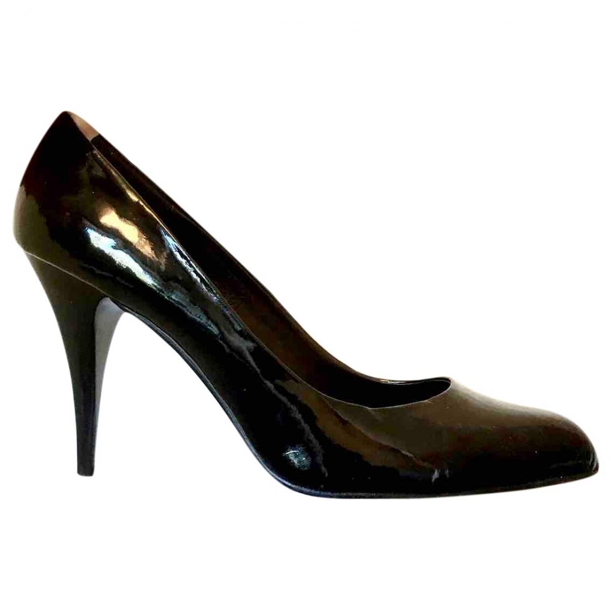 Non Signé / Unsigned \N Black Rubber Heels for Women 38 EU