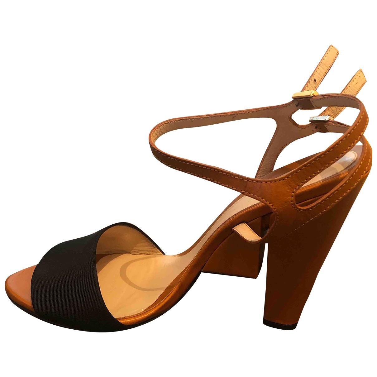 Fendi \N Orange Cloth Sandals for Women 40 EU
