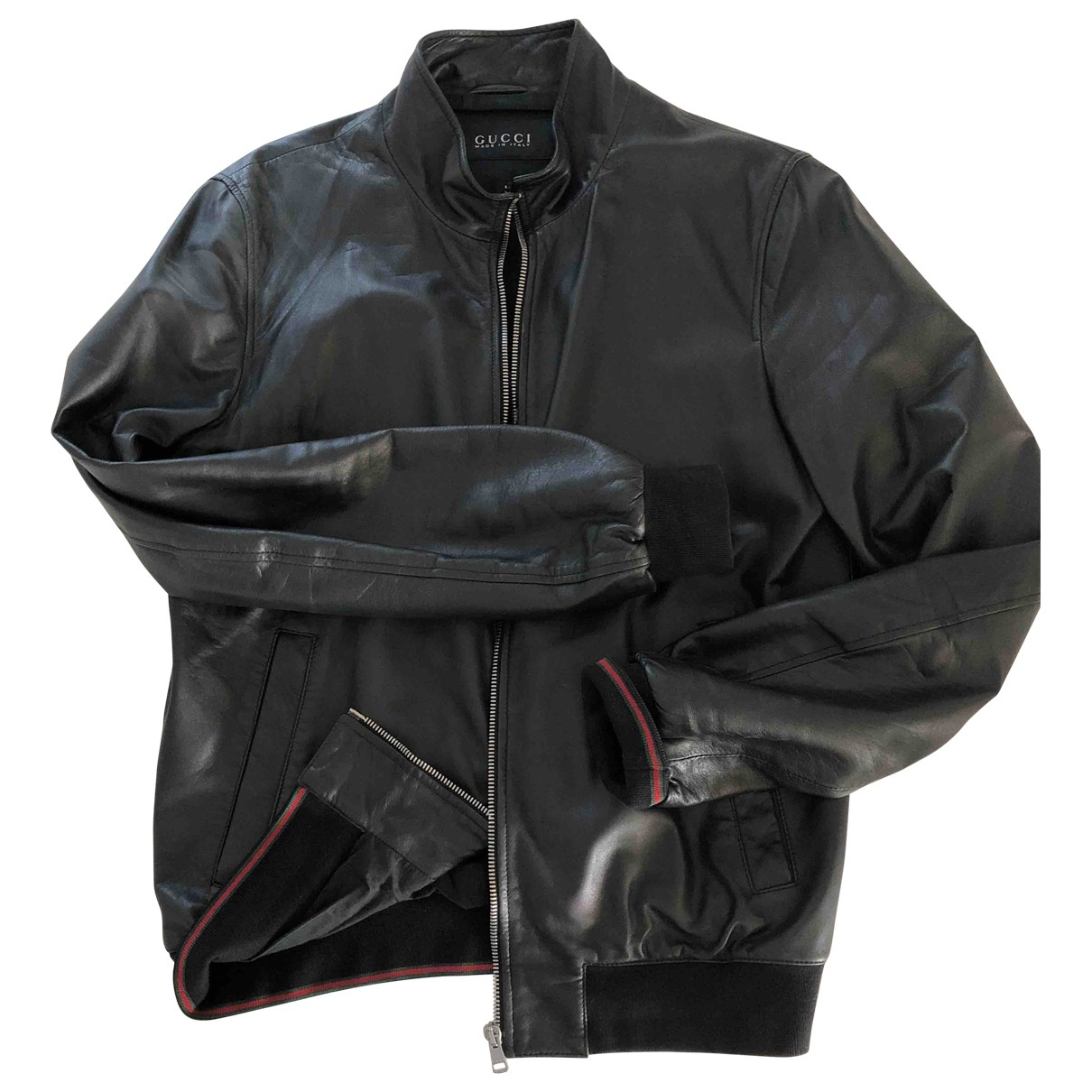 Gucci \N Black Leather jacket  for Men 48 IT