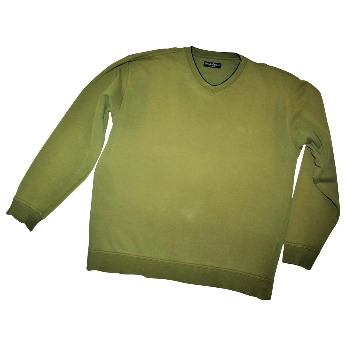 Yves Saint Laurent \N Pullover.Westen.Sweatshirts  in  Khaki Baumwolle