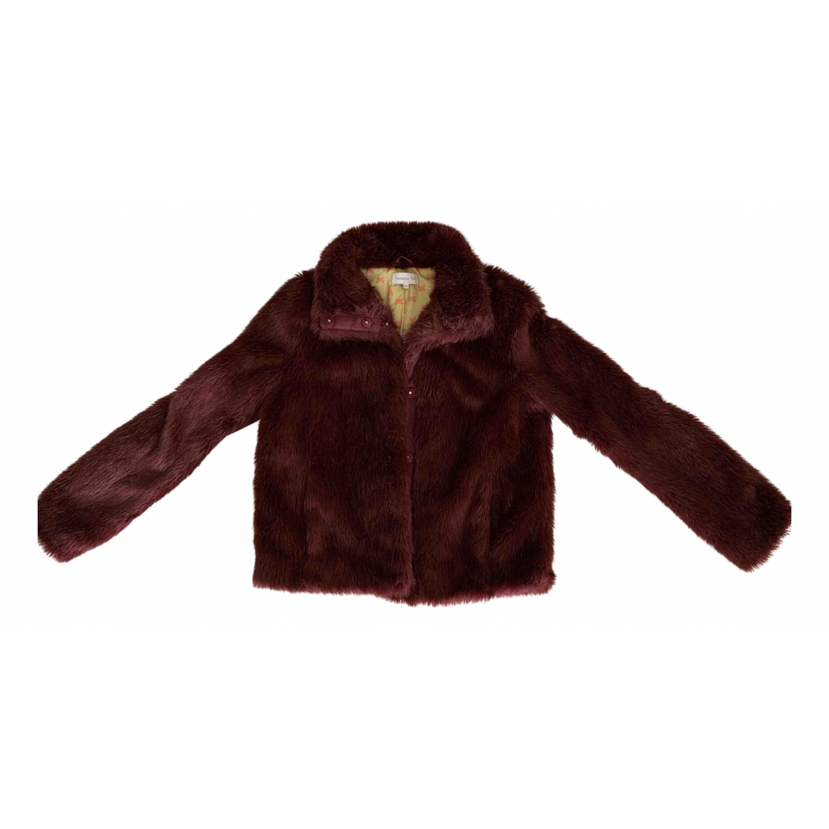Patrizia Pepe N Burgundy Faux fur coat for Women 42 IT