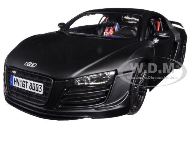 Audi R8 GT Matt Black 1/18 Diecast Car Model by Maisto