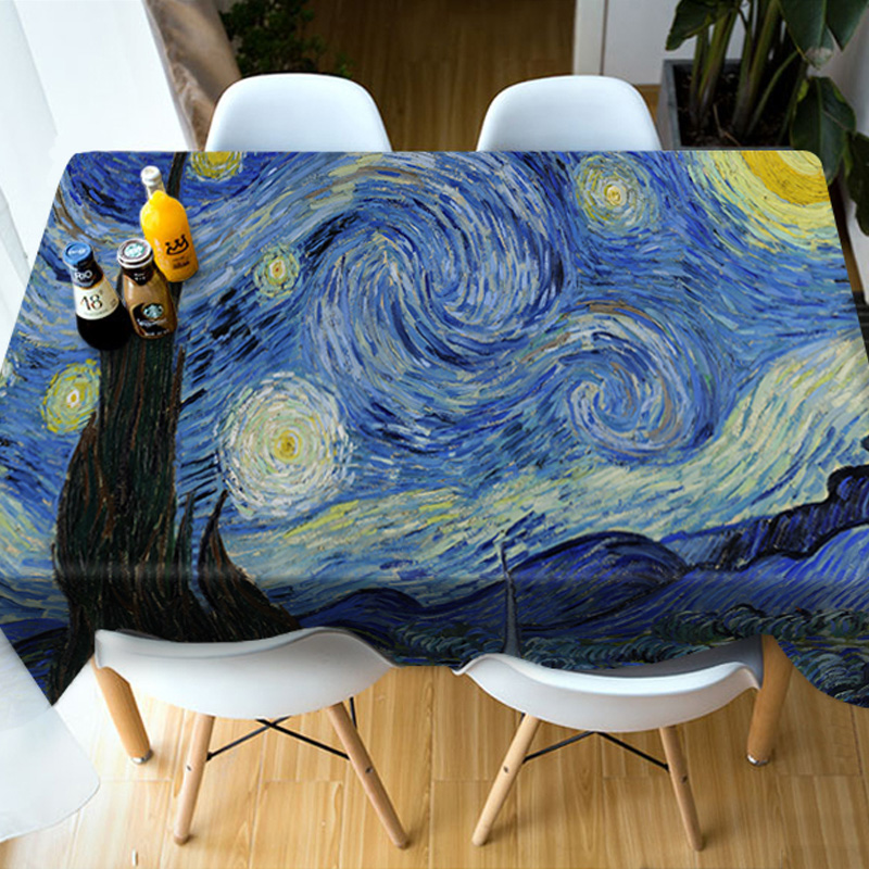 Dinning Room Kitchen Birthday Decoration Realistic Design 3D Tablecloth