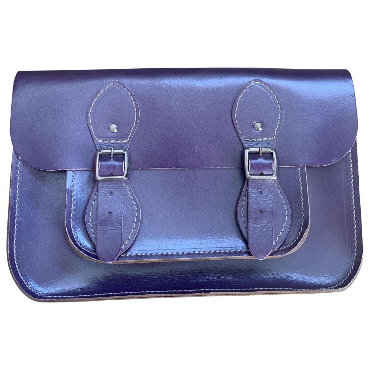Leather Satchel Company - Sac a main   pour femme en cuir - metallise
