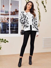 Button Up Leopard Cardigan
