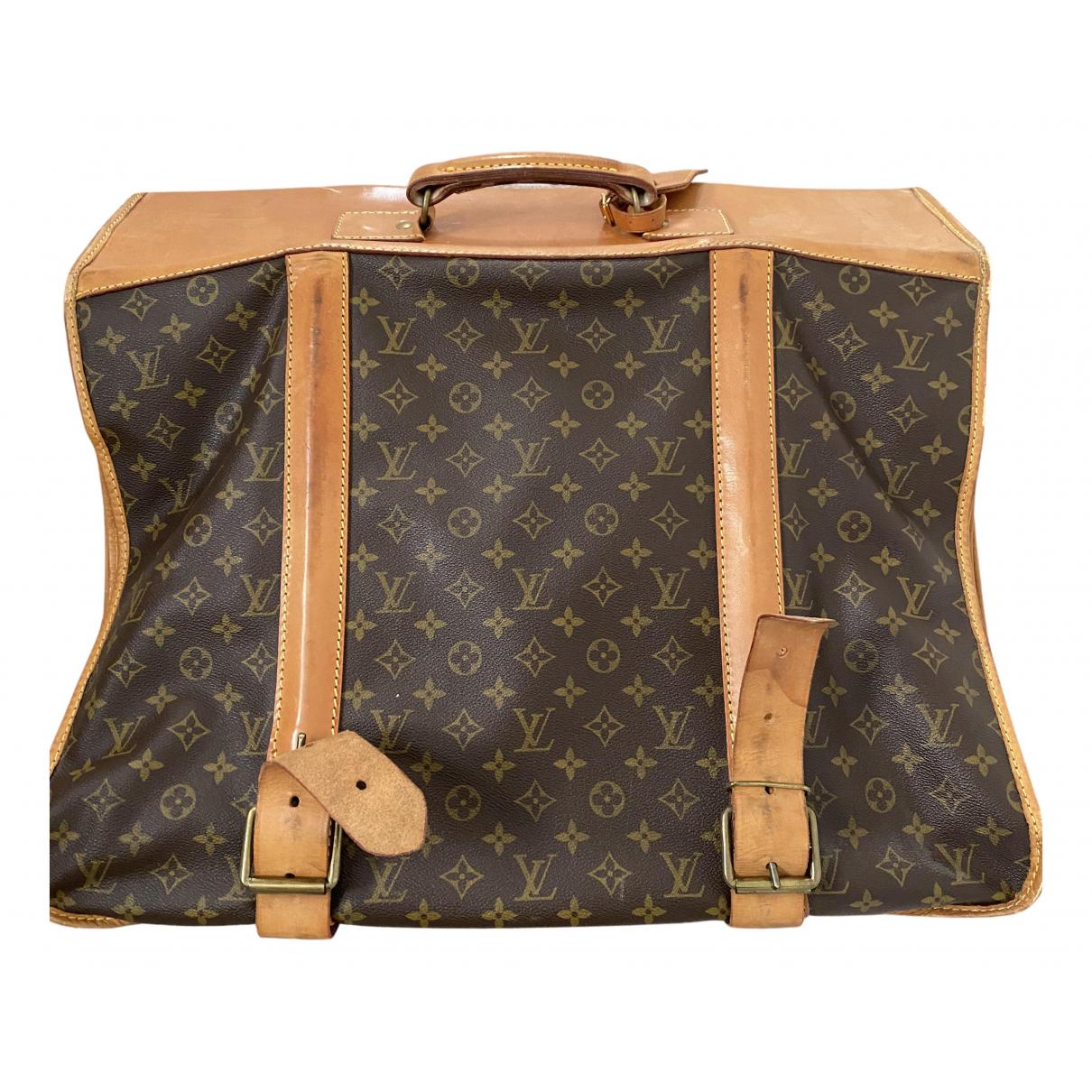 Louis Vuitton - Sac de voyage Garment pour femme en toile - marron