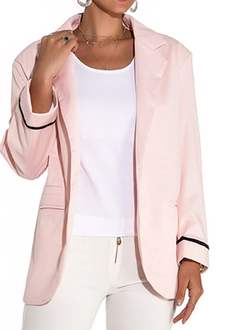 Ericdress Long Sleeve Plain Spring Mid-Length Casual Blazer