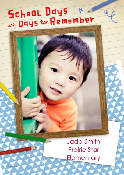 Back to School 5x7 Cards, Premium Cardstock 120lb with Elegant Corners, Card & Stationery -School Days are Days to Remember