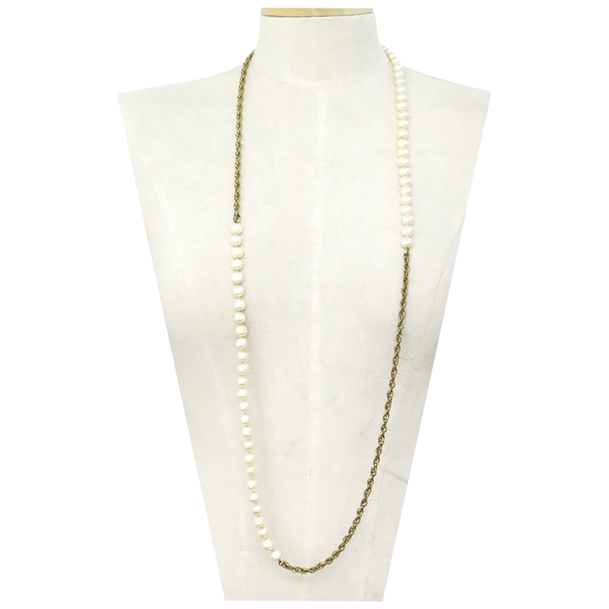 Chanel N Gold Metal necklace for Women N