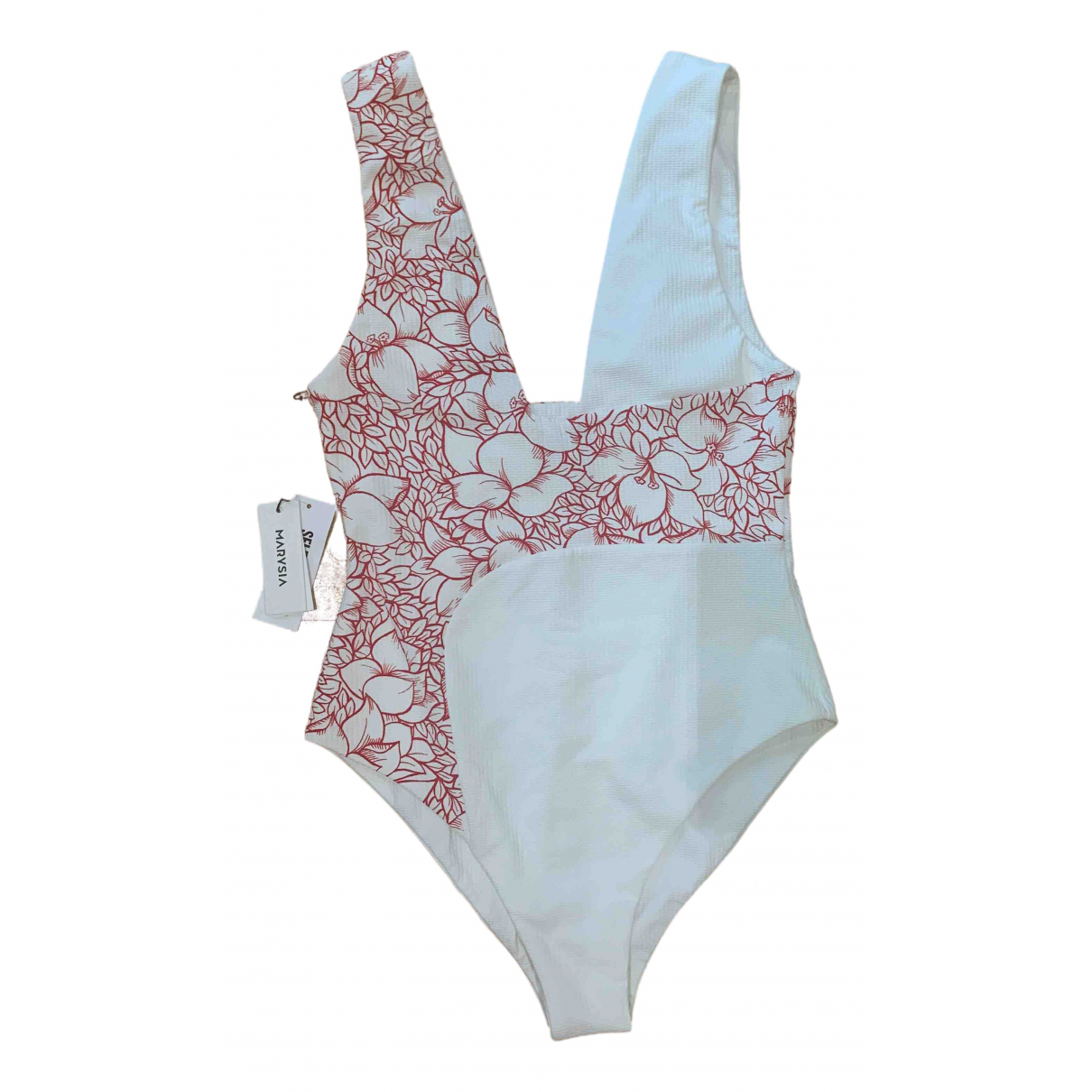 Marysia \N White Cotton - elasthane Swimwear for Women S International