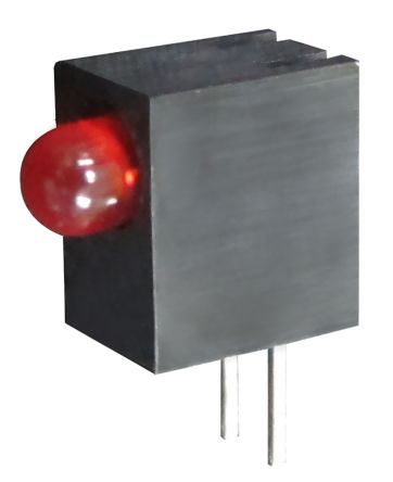 Kingbright L-93A8CB/1SRD, Red Right Angle PCB LED Indicator, Through Hole 2.5 V (20)