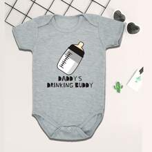 Baby Boy Slogan Graphic Bodysuit