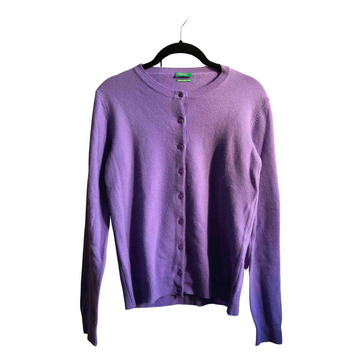 Benetton - Pull   pour femme en laine - violet