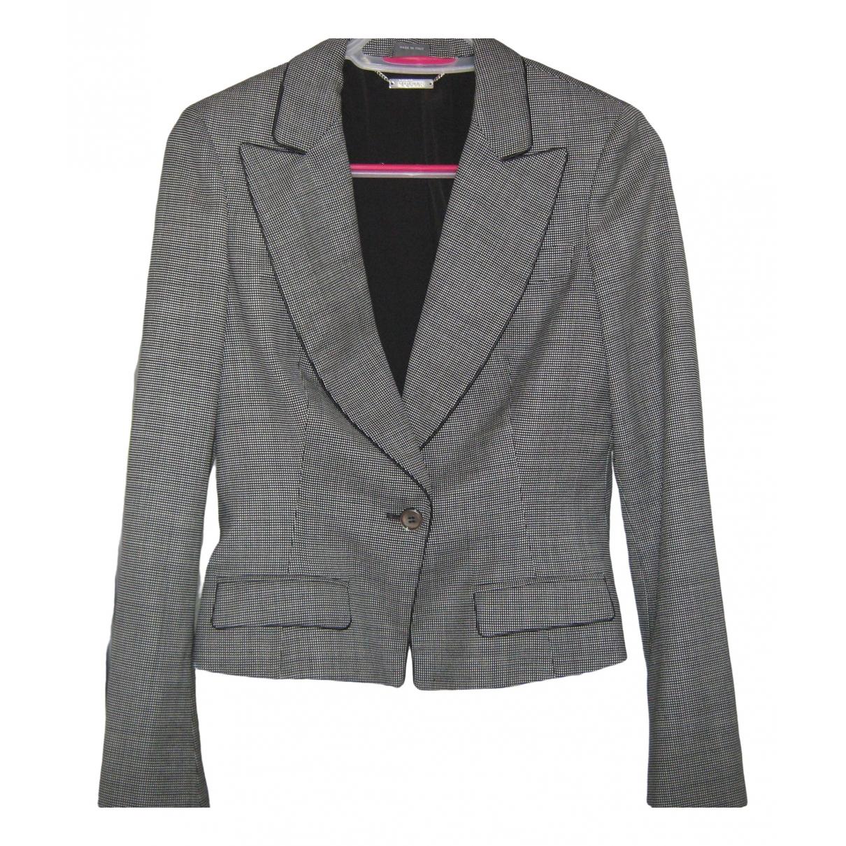 Alexander Mcqueen - Veste   pour femme en laine - gris