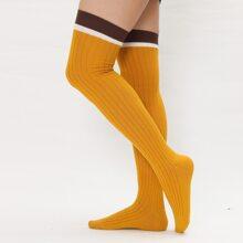 Simple Over The Knee Socks