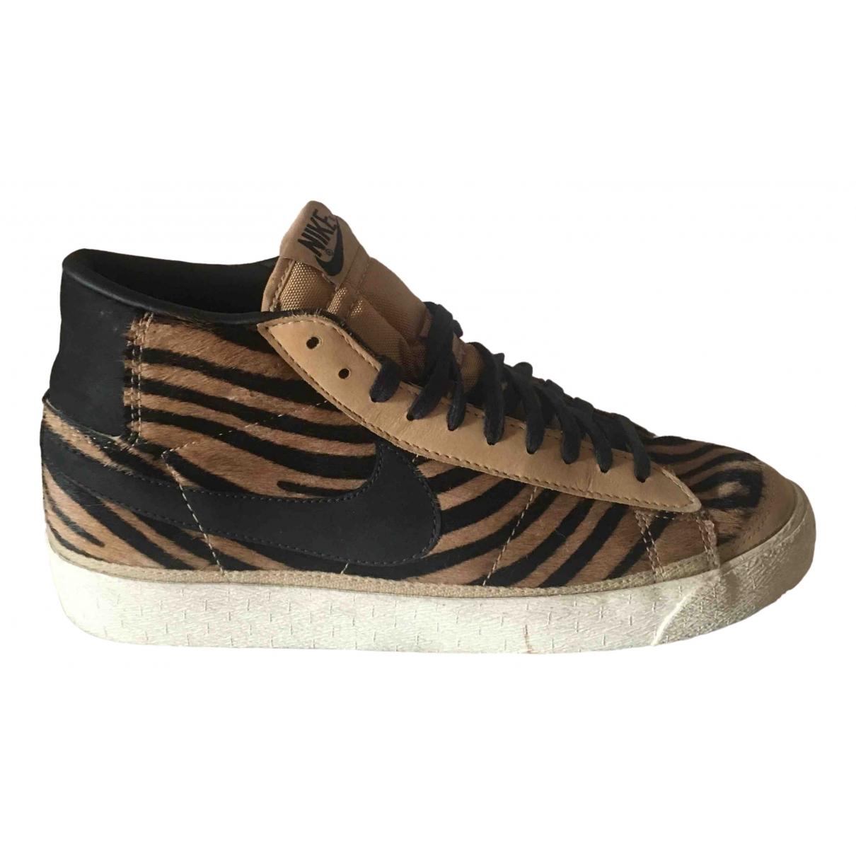 Nike Blazer Brown Leather Trainers for Women 42.5 EU