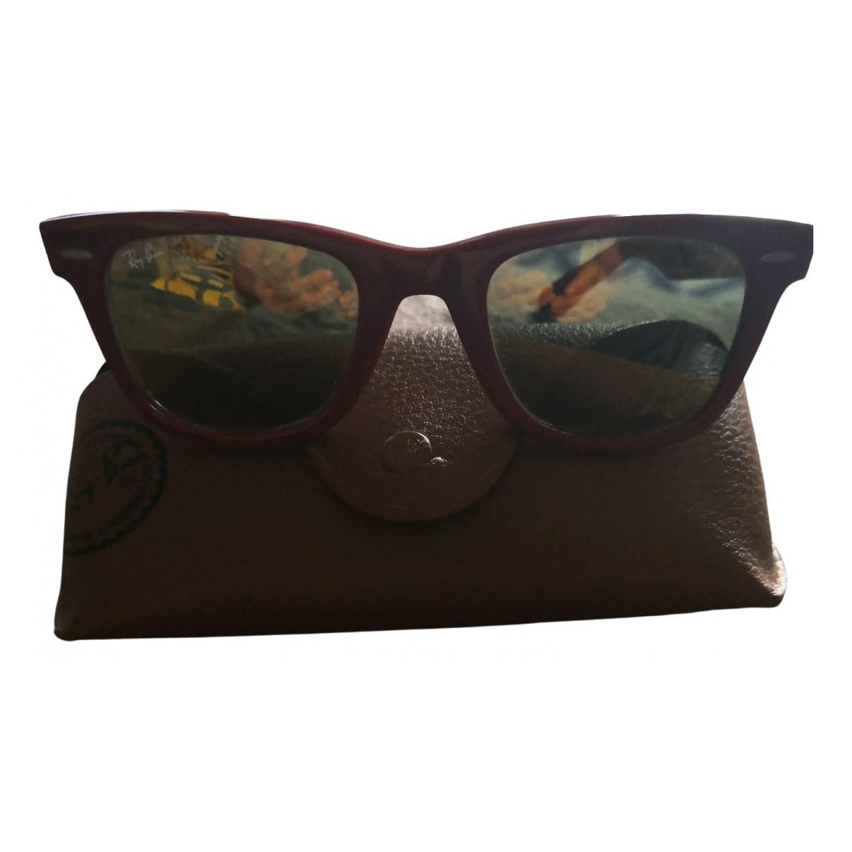 Ray-ban Original Wayfarer Sonnenbrillen in  Bordeauxrot Kunststoff