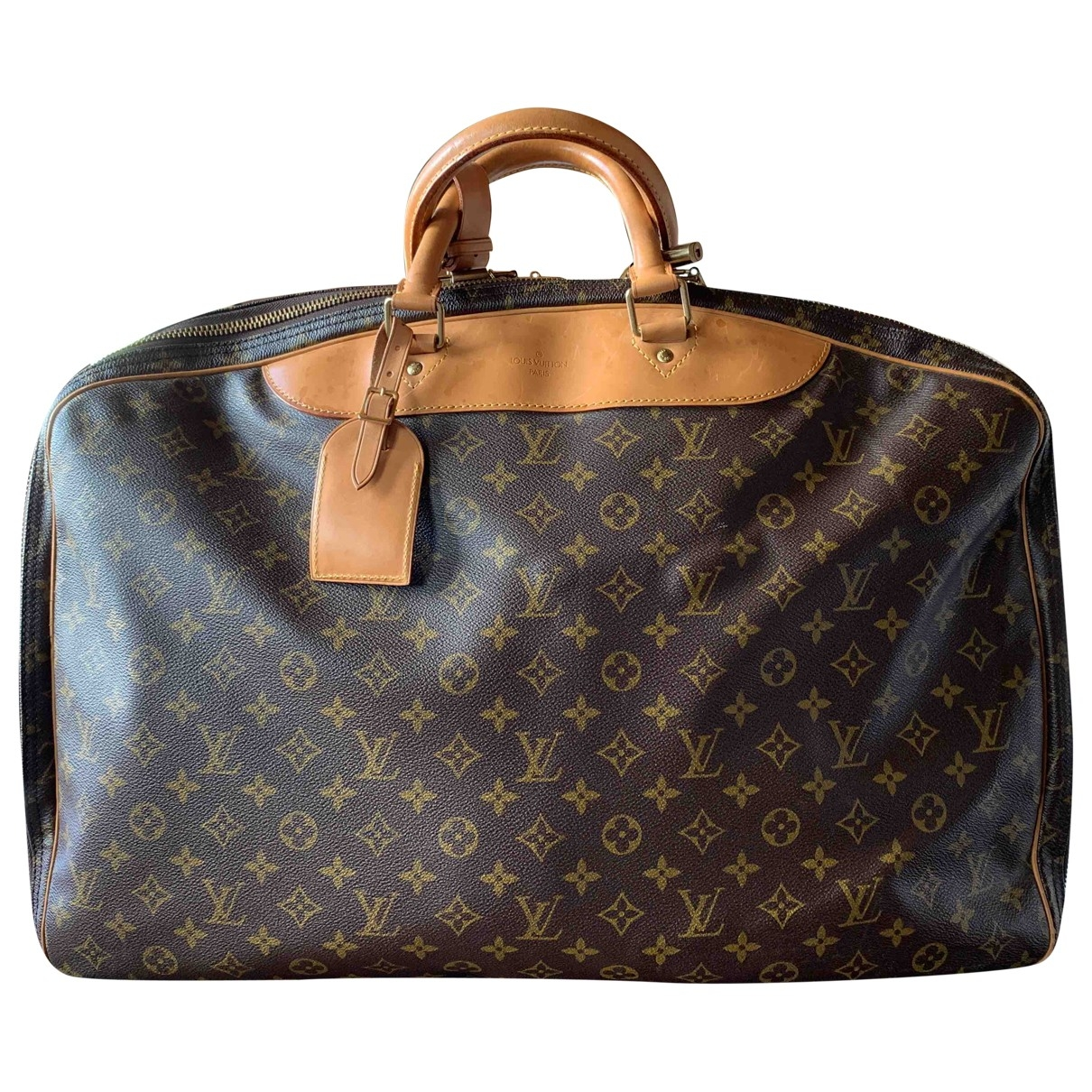 Louis Vuitton \N Reisetasche in  Braun Leinen