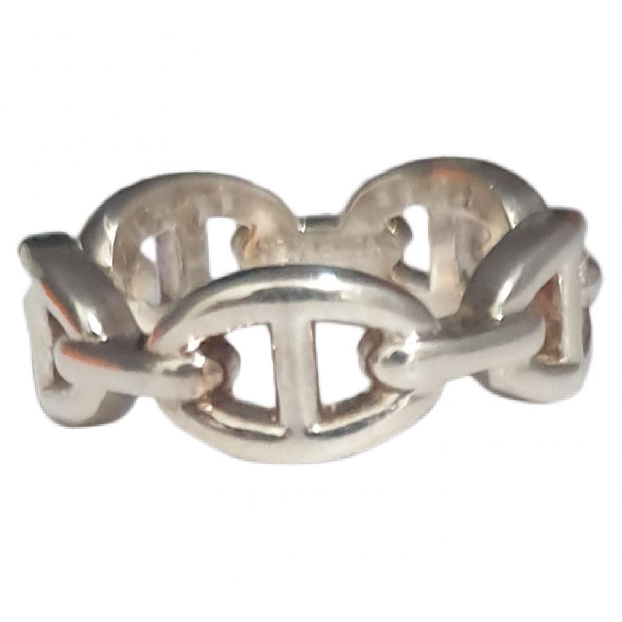 Hermes - Bague Chaine d'Ancre pour femme en argent - argente