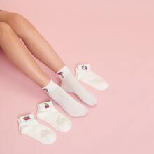 4 Paare Socken mit Einhorn Muster