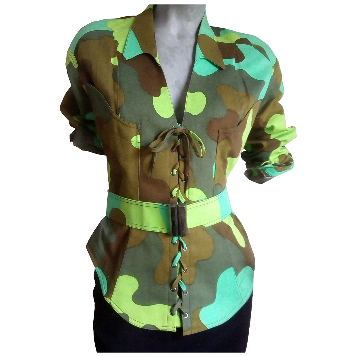 Thierry Mugler \N Multicolour Cotton jacket for Women 36 FR