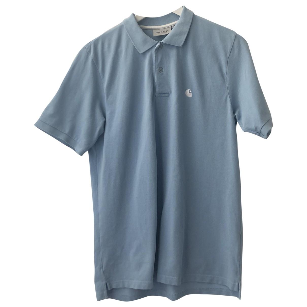 Carhartt - Polos   pour homme en coton - bleu