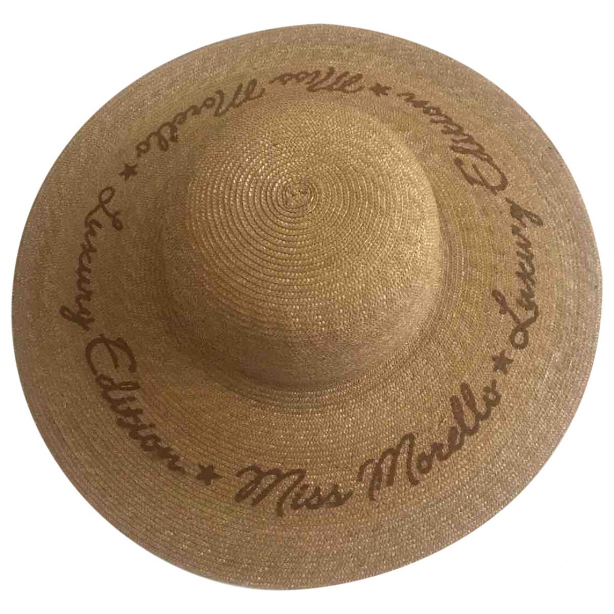 - Chapeau Hippie Chic pour femme en paille - camel