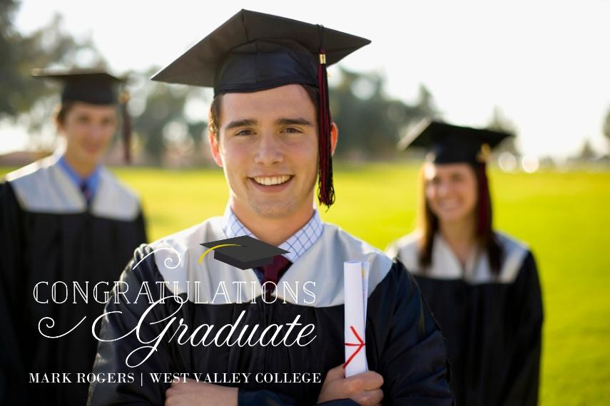 Graduation Magnets, Gift -Script Congratulations Graduate