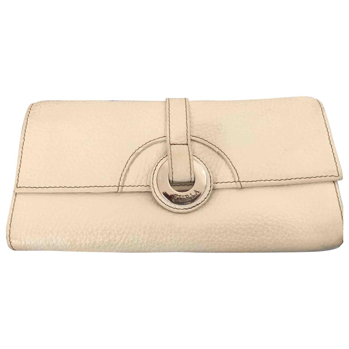 Furla - Portefeuille   pour femme en cuir - beige