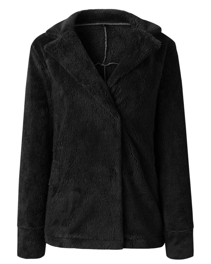 Suit Neckline Pocket Long Sleeve Loose Model Cardigan Hoodie